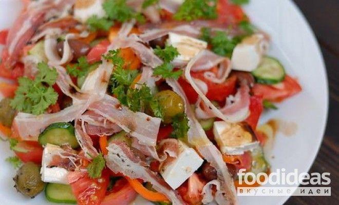 Греческий салат с курицей - рецепт приготовления с фото   FOODideas.info