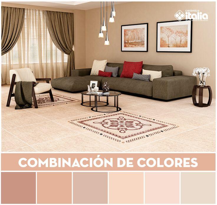 El color beige complementado con un color contrastante permitirá visiblemente que resalte una cerámica o un objeto, dejando un toque moderno.  #Combinacióndecolores  #ColorMatching #Beige