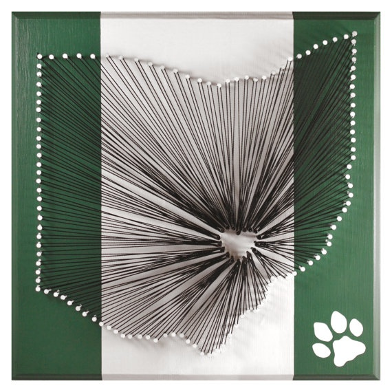 I Heart Athens String Art - Ohio University Bobcat Edition. $45.00, via Etsy.