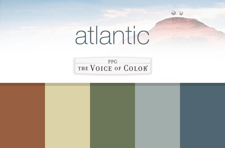Paint Colors Inspired by Atlantic. These coastal paint colors are inspired by…