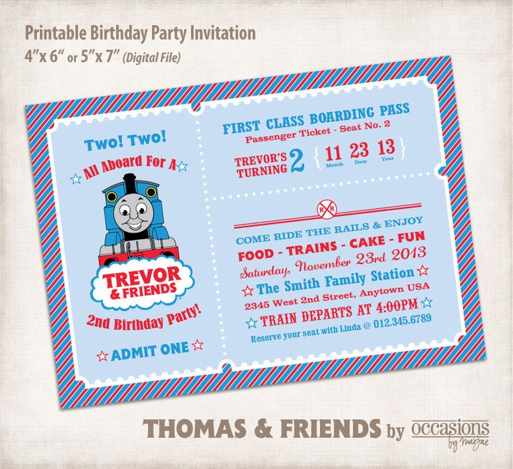 84 best Thomas the Train Party images on Pinterest | Birthday party ...