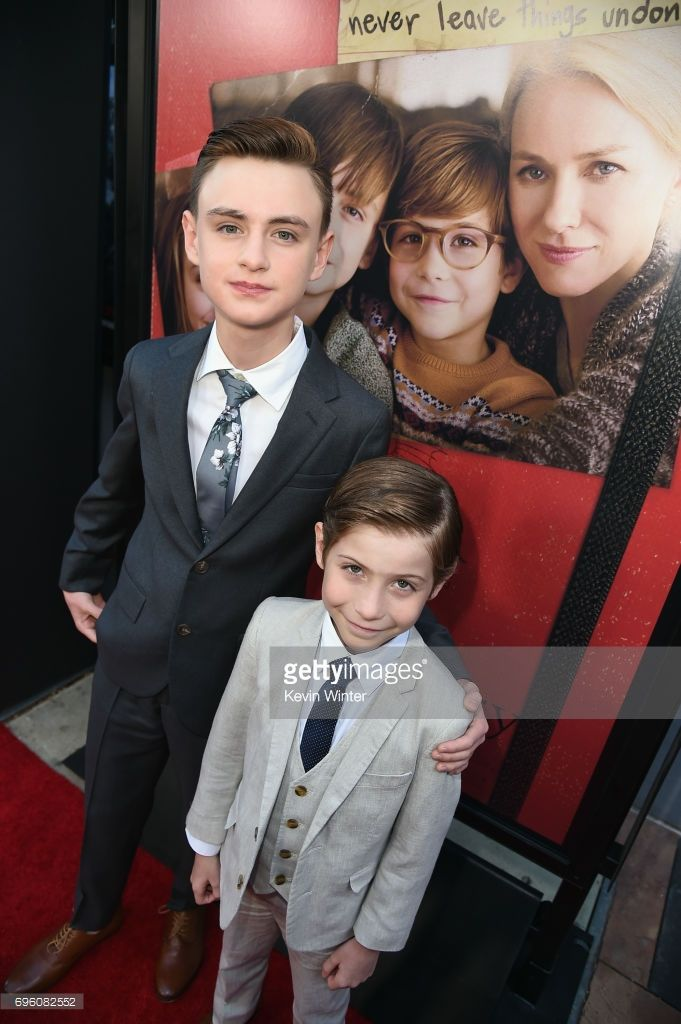Actors Jaeden Lieberher (L) and Jacob Tremblay attend the opening night premiere of Focus Features' 'The Book of Henry' during the 2017 Los Angeles Film Festival at Arclight Cinemas Culver City on June 14, 2017 in Culver City, California.