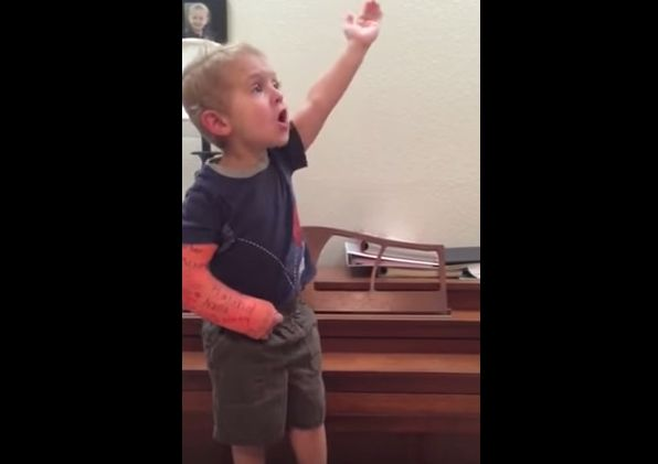Broadway, your newest star awaits.  Amazing 3 yr old sings song from Les Miserables.