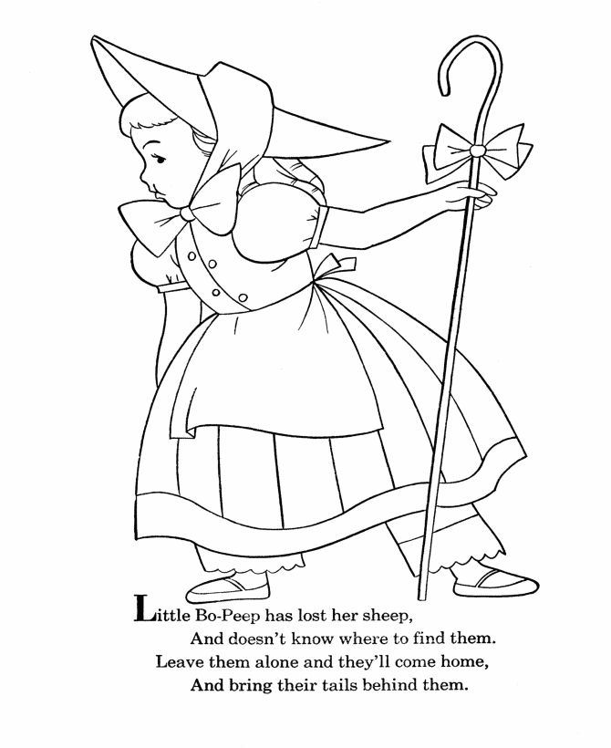 BlueBonkers Nursery Rhymes Coloring Page Sheets Little