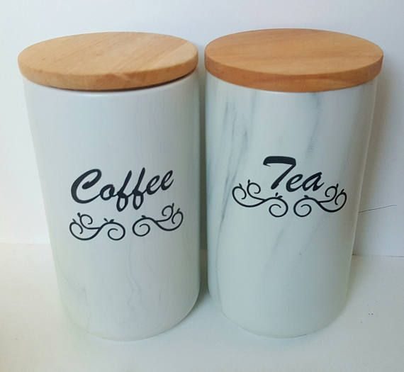Check out this item in my Etsy shop https://www.etsy.com/au/listing/525393437/coffee-tea-marble-cannisters