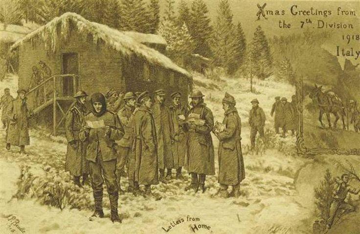 1 RWF 7th Division Christmas Card 1918.