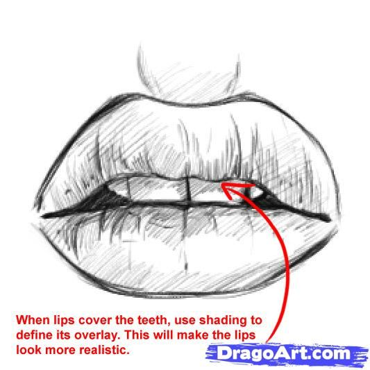 how to draw good lips