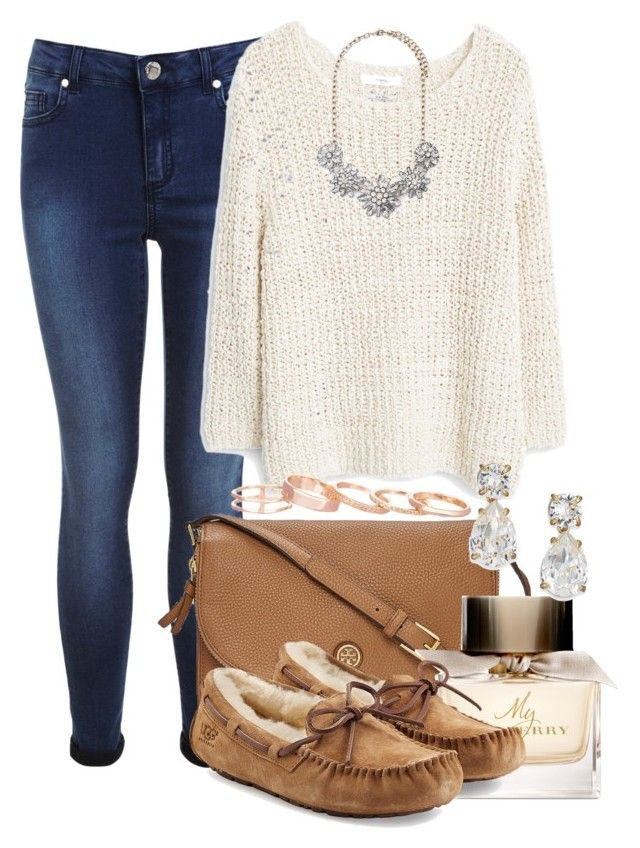 """""""What's with all the Polyvore drama? Can someone help me out here?"""" by red-velvet-n-pearls ❤ liked on Polyvore featuring Miss Selfridge, MANGO, Forever 21, Tory Burch, Burberry, UGG Australia, Kate Spade and Kendra Scott"""