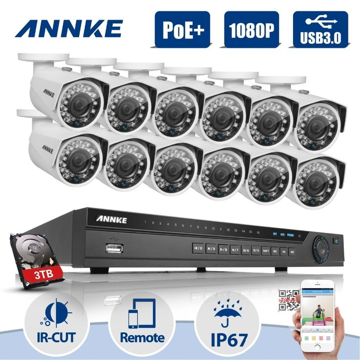 1318.38$  Know more - http://aipij.worlditems.win/all/product.php?id=32796147086 - ANNKE 16CH 5MP Network NVR POE 1080P Outdoor Home Security Camera System 3TB HDD