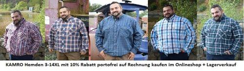 KAMRO Hemden in XXL Übergröße und großen Größen kaufen mit 10% Rabatt und versandkostenfrei im Onlineshop www.the-big-gentleman-club.com oder im Lagerverkauf in 57644 Hattert OT Hütte, Lerchenweg 4 an der A3 zwischen Köln und Frankfurt.