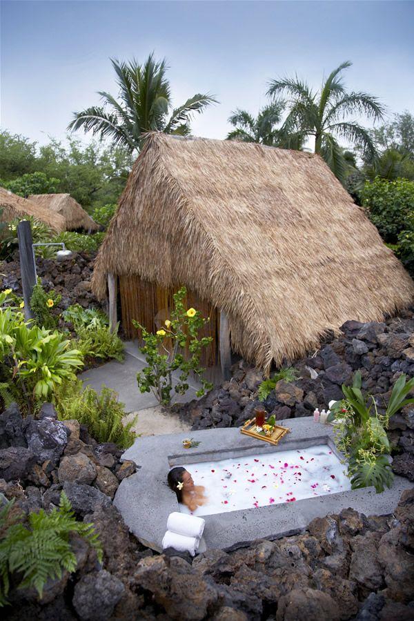 Spa Hale & Bath at Mauna Lani Bay Hotel And Bungalows (Kohala Coast, Big Island) Hawaii.   I want to go there . . . one day. I mean it was named for me..