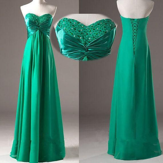 Green Prom Dresses,Simple Prom Dress,Sexy Prom Dress,Fitted Corset Prom Dresses,2018 Formal Gown,Chiffon Evening Gowns,Ball Gown Party Dress,Strapless Prom Gown For Teens PD20184469
