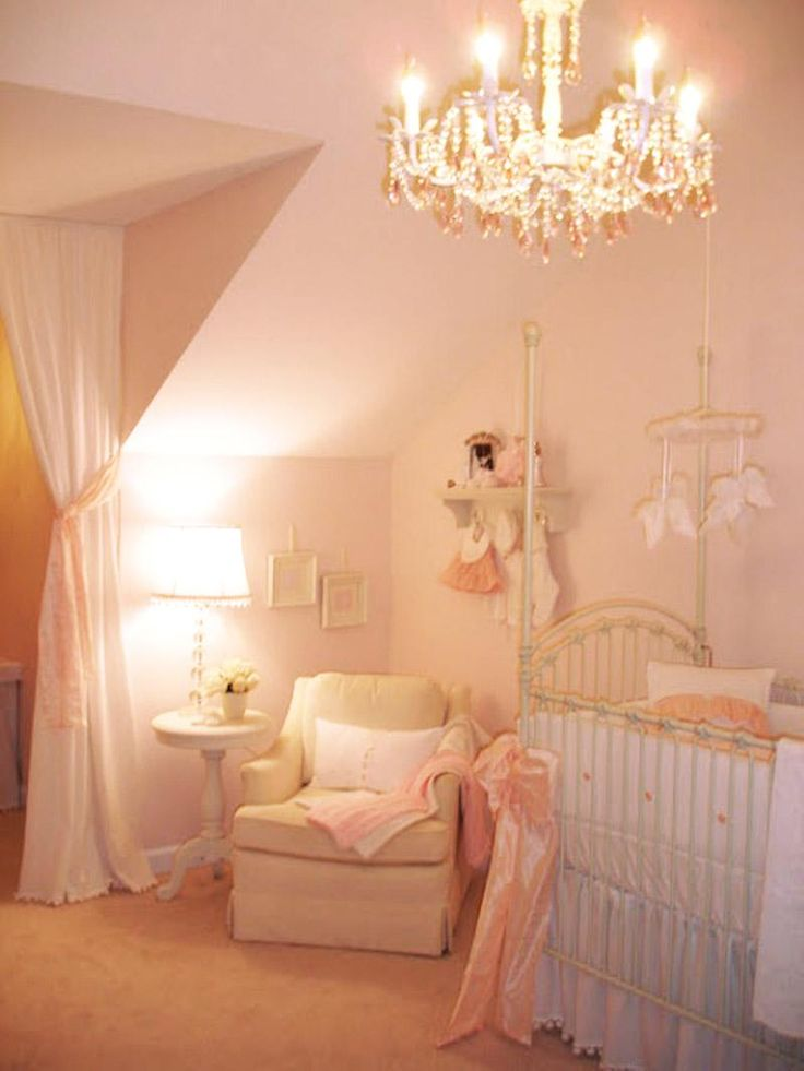 a nursery fit for a princess featuring our venetian crib in antique white
