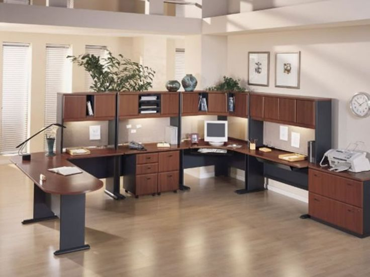 Office Design Ideas love these simple non cubicle workstations office design ideas and layout from zalf Office Arrangement Ideas Office Design Ideas Small Office Design Ideas Small Office Office Office Space Ideas Pinterest Office Furniture