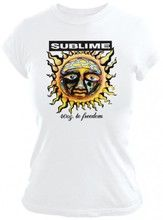Sublime Album Cover T-shirt - 40 Oz to Freedom Artwork | Women's White Shirt