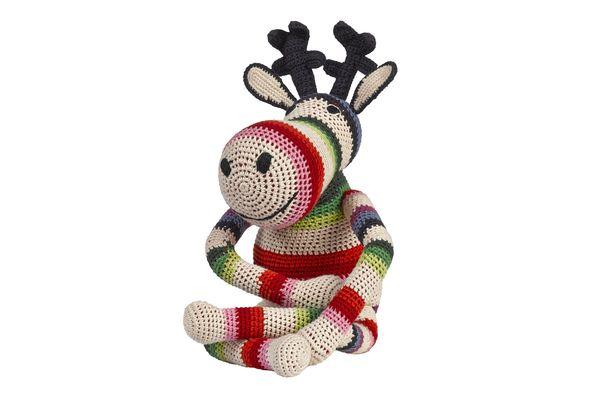 RENNE Doudou et objet déco RENNE Crochet fait main Coton organique 25x12cm Prix : 83 €