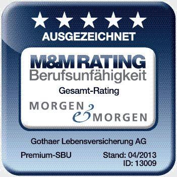 Siegel Berufsunfähigkeit: M&M Rating Berufsunfähigkeit ausgezeichnet