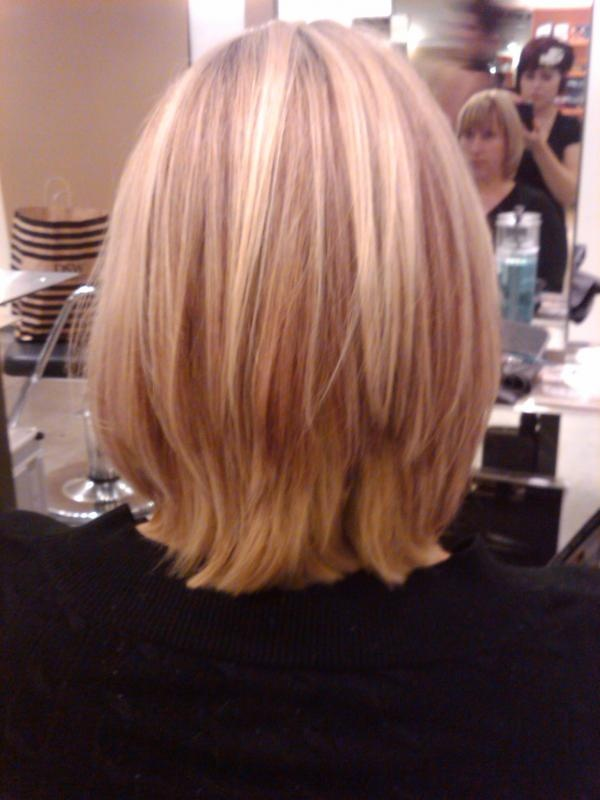 Blonde Highlights With Violet Red Lowlights New