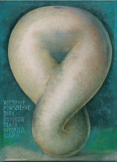 Public Prison, Polish Theater Poster by Jerzy Czerniawski