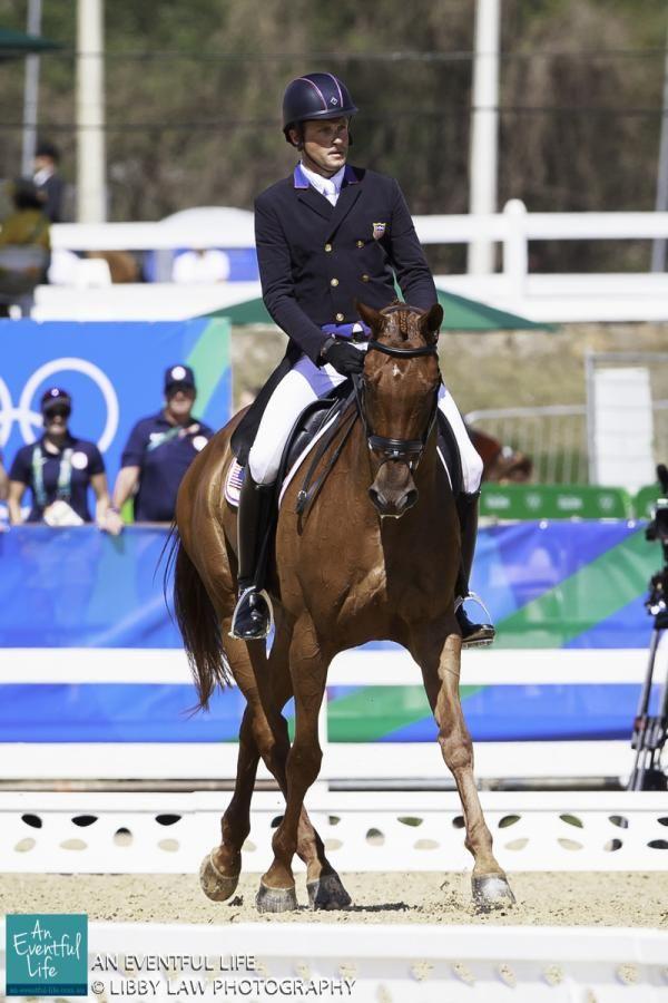 USA-Boyd Martin rides Blackfoot Mystery in the Dressage for the Equestrian Eventing.  Rio 2016 Olympic Games, Centro Olímpico de Hipismo, Rio de Janeiro, Brazil. An Eventful Life