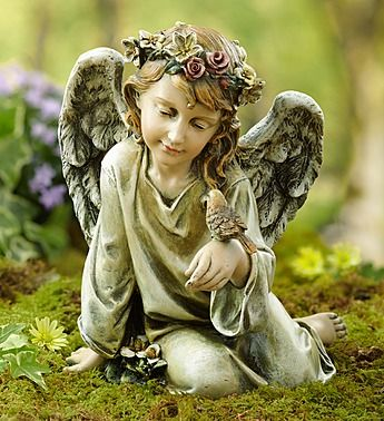 An angel gazing at a bird resting on her hand is a beautiful and touching tribute to a loved one who has passed away. This statue highlights the simple joys of life, like the beauty of their laugh or the warm greetings shared everyday.