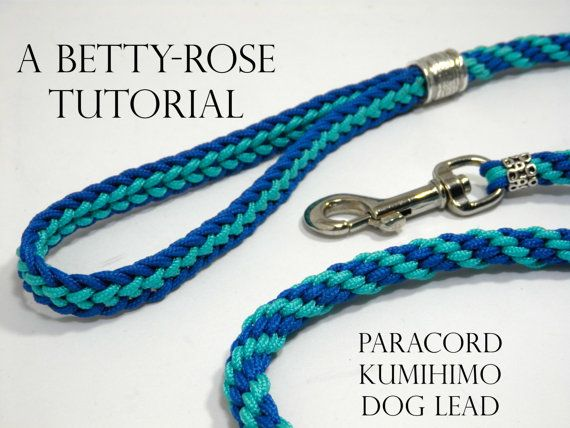 Tutorial for Kumihimo Dog Leash Lead - Flat and Round braiding Instant Download PDF Beading Pattern