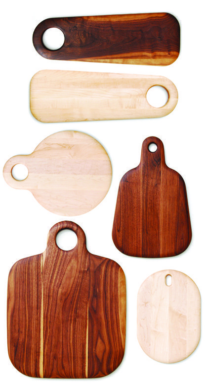 Cutting & Charcuterie Board by Geoffrey Lilge. Available here. http://www.geoffreylilge.com/