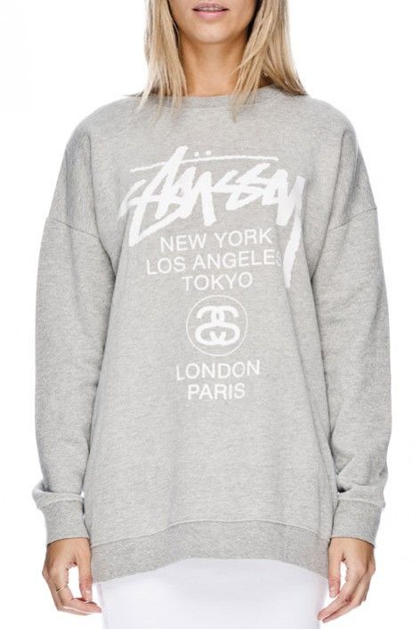 CITIES CM CREW - Hoodies & Sweaters - Shop Womens | Stussy Australia