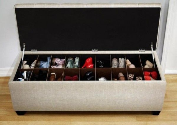 Les 25 meilleures id es de la cat gorie bancs de stockage - Rangement chaussures diy ...