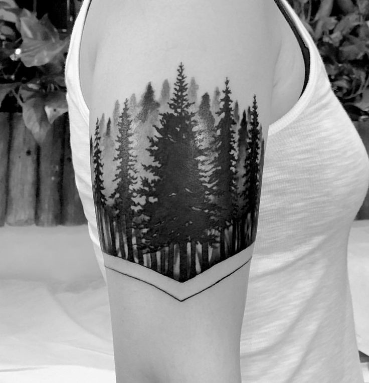 """125 Likes, 7 Comments - Deuce Deuce (@tattoosbythu) on Instagram: """"Sweet ass #pinetrees I did today. Thanks Annie! Super fun tattoo. #soltribe #denver #denvertattoo…"""""""