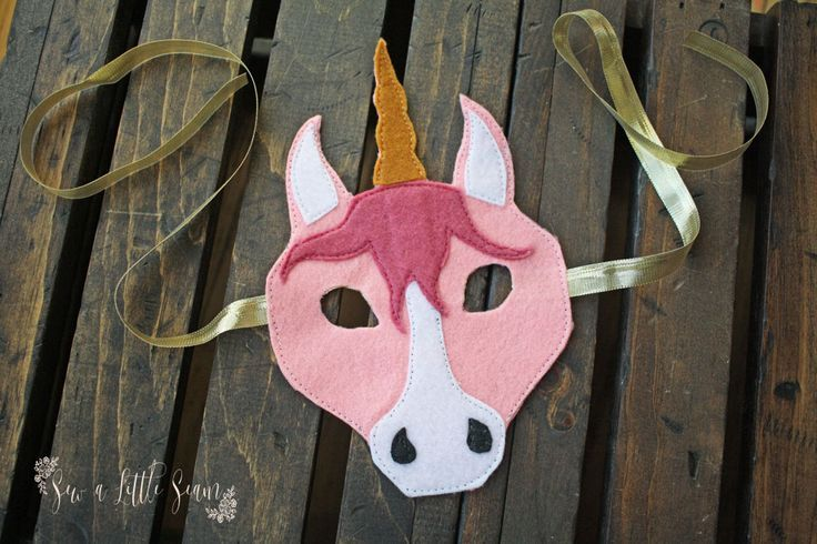 Unicorn - Free Felt Animal Masks Pattern & Tutorial