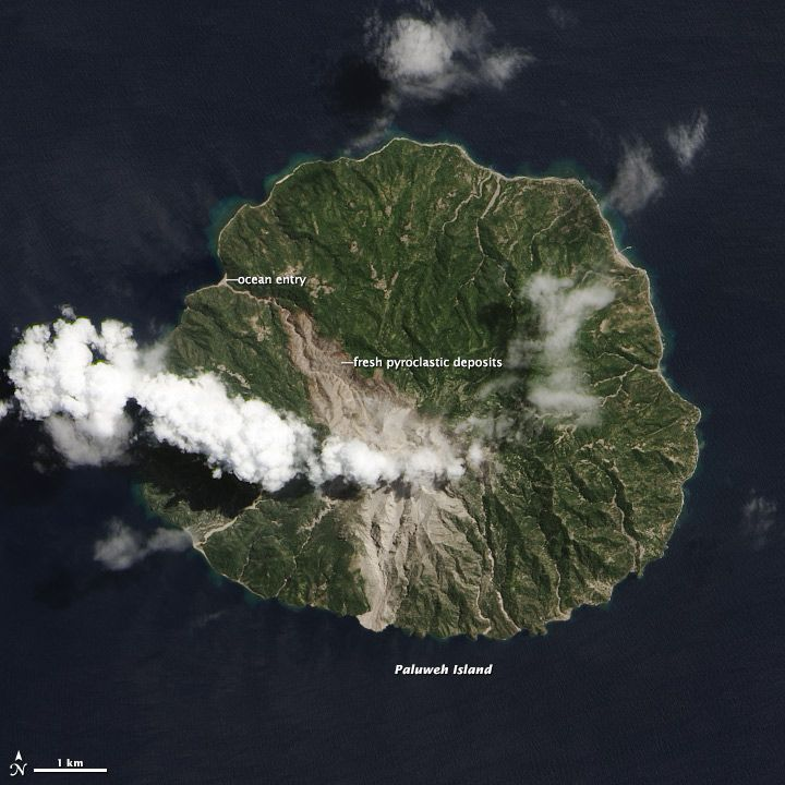 Satellite Images: Deadly Pyroclastic Flow at Paluweh Volcano