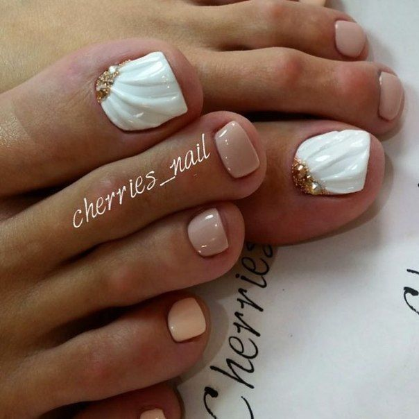 63 best pedicure designs images on pinterest pedicure pretty 20 elegant wedding nail designs to make your special day perfect prinsesfo Images