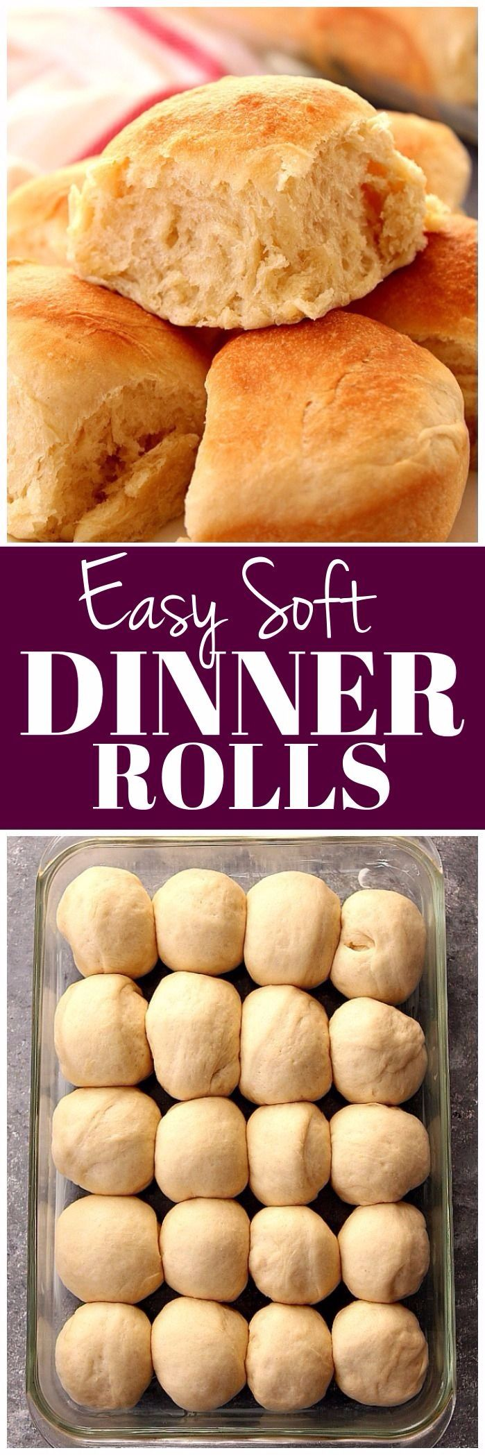 The Best Easy Dinner Rolls Recipe | www.crunchycreamysweet.com
