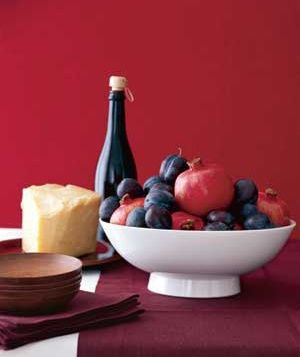 Seasonal fruit centerpiece