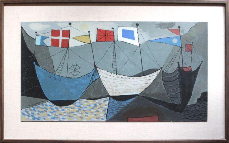 B.C. (Bertram Charles) Binning (1909–1976), Convoy at Rendezvous « 4th Meridian Auctions