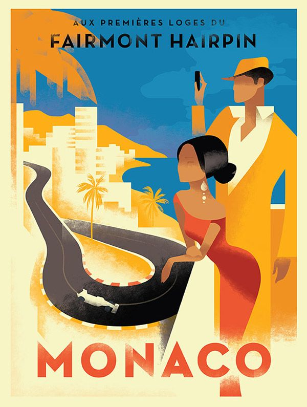 Fairmont group monaco grand prix picture by mads berg posters art prints canvas prints greeting cards or gallery prints