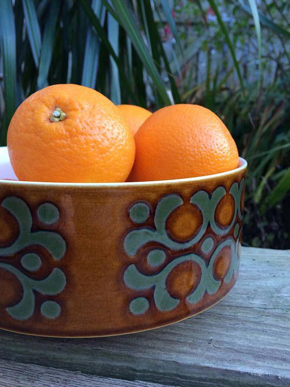 Vintage Hornsea Pottery Bronte range large bowl / fruit