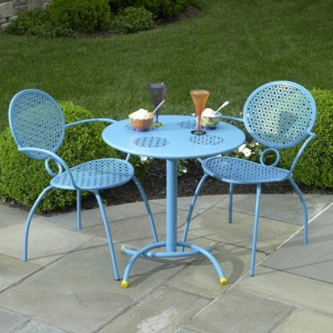 Wonderful 56 Cutie Pastel Patio Design Ideas : 56 Cutie Pastel Patio Design Ideas With Blue Table Chair Glass And Natural Stone Floor And Garden View
