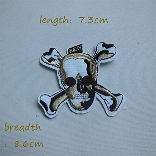 FairyTeller 1Pcs Sell High Quality Human Skeleton Patch Hot Melt Adhesive Applique Embroidery Patch Diy Decoration Accessory C106-C235 ** Check this awesome item by going to the link at the image.