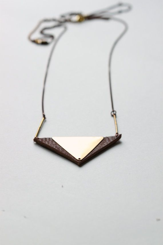 Gorgeous geometric + leather jewelry.