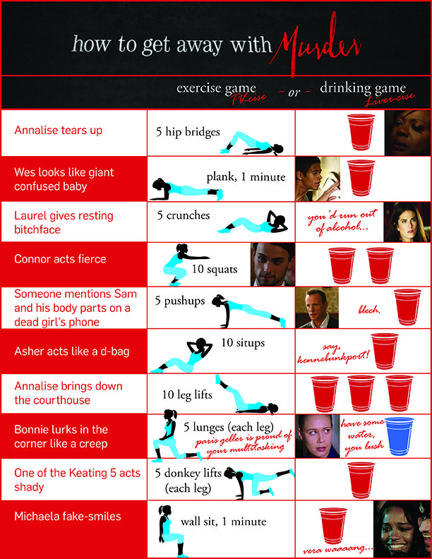 72 best drinking games images on pinterest drinking games party how to get away with murder drinking game or exercise game htgawm ccuart Image collections
