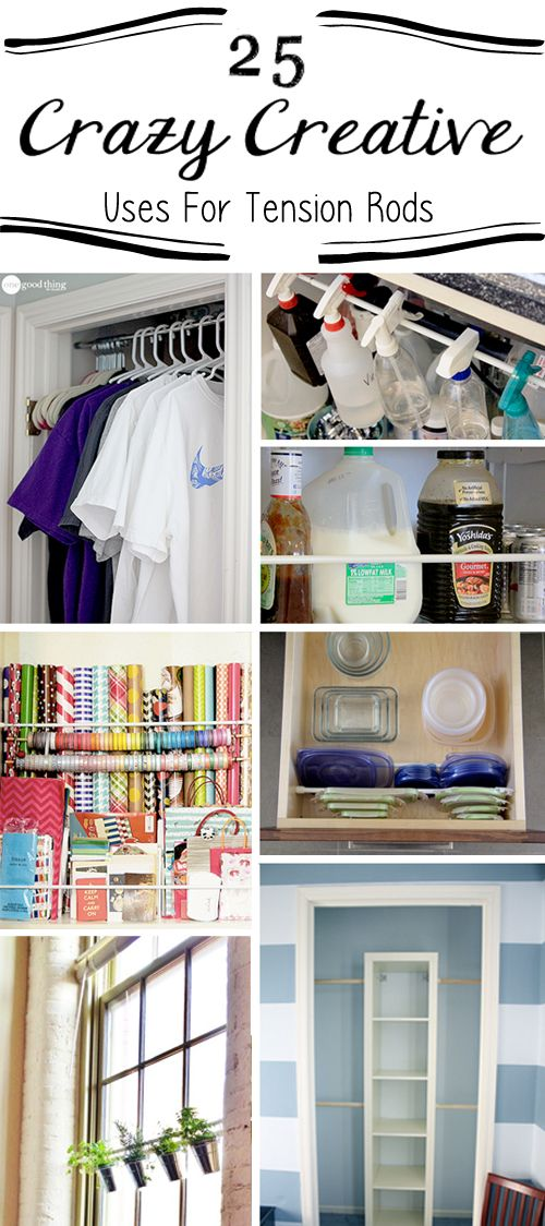 25 Crazy Clever Uses For Cheap Tension Rods | Organizations ...