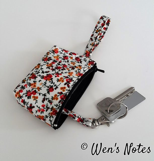 DIY Key and Access Card Holder Pouch | Wen's Notes