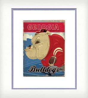 really neat vintage georgia bulldog posters