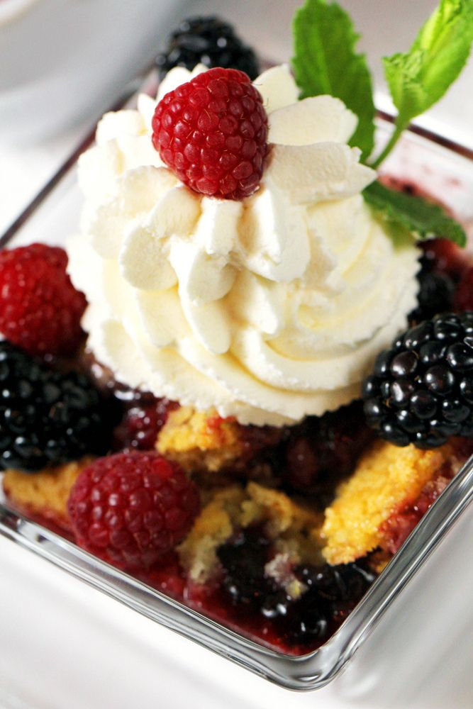 No Fail 7-Up Berry Cobbler  - A Vegan Blogging Extravaganza at The Flaming Vegan