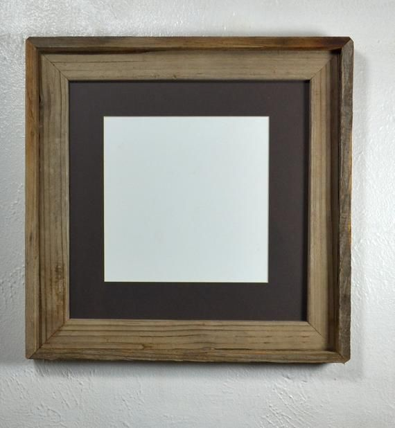 8x8 Charcoal Mat In 12x12 Farmhouse Style Reclaimed Wood Picture Frame Fits 8x8 10x10 8 5x11 Reclaimed Wood Picture Frames Picture On Wood Wood Picture Frames