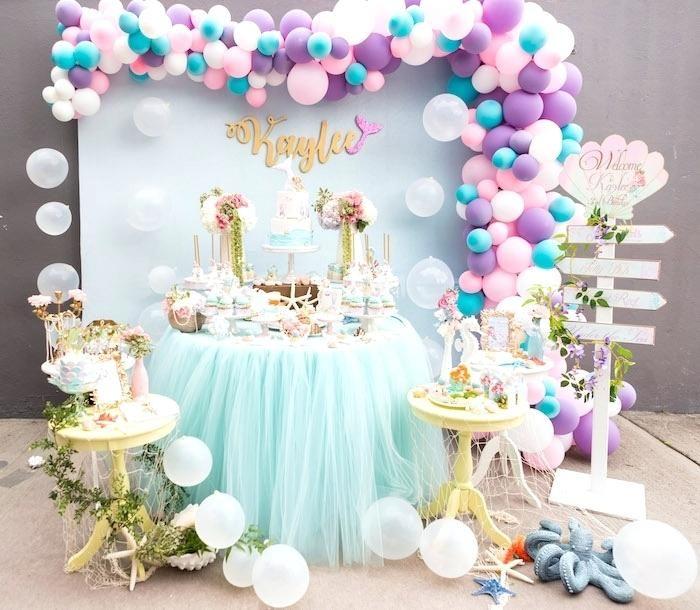 Birthday Party Vendors Oahu Ideas Pastel Mermaid Via Partyideascom25