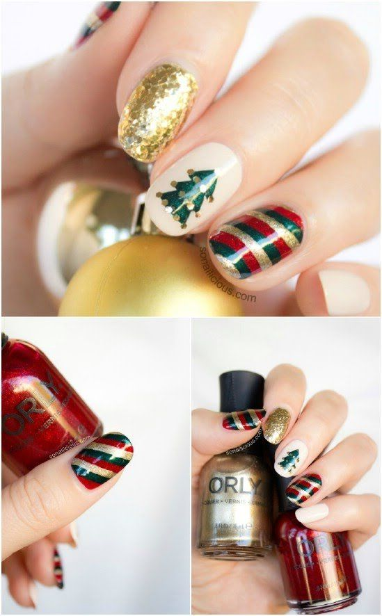 Mix N Match 20 Fantastic Diy Christmas Nail Art Designs That Are