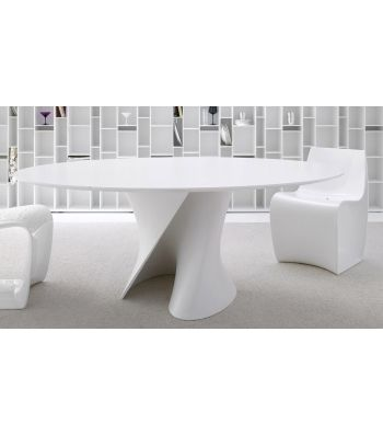 S Table White Tavolo Ovale MDF Italia - Milia Shop